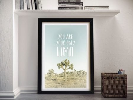 You Are Your Only Limit Framed Wall Art