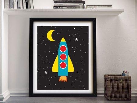 Buy a Framed Blast Off Print on Canvas
