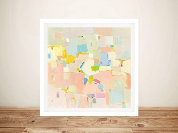Block Party Pastel Toned Abstract Art for Sale