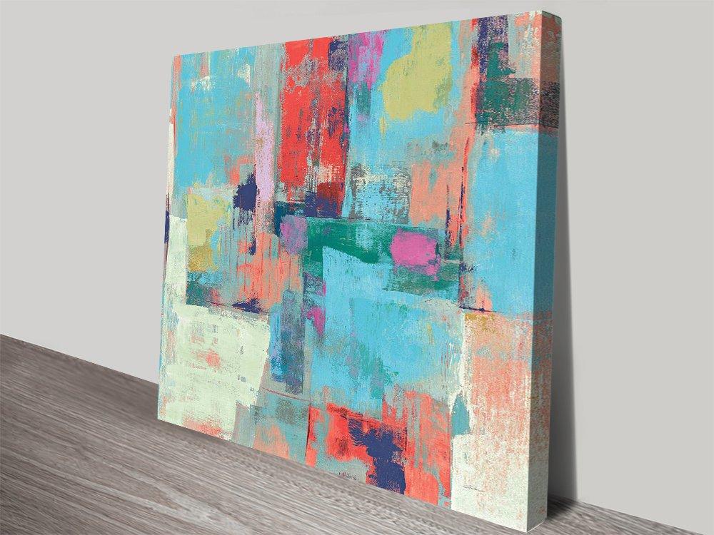 Bright Reflections Vivid Art Print on Canvas