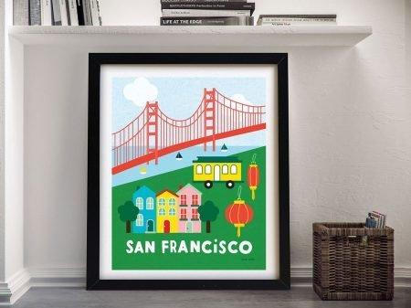 Buy a Framed City Fun San Francisco Print
