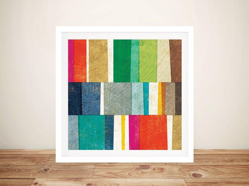 Framed Colourful Abstract Art Gift Ideas AU