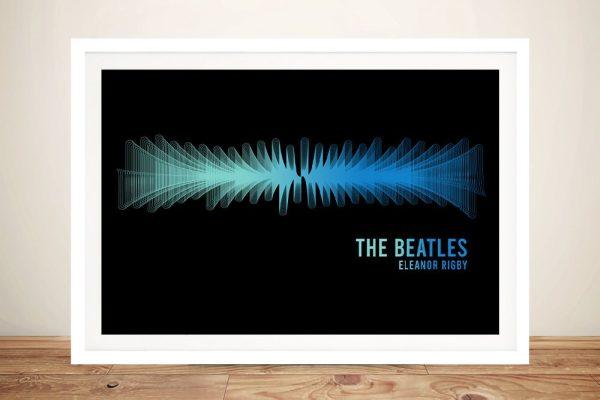Framed Beatles Soundwaves Art Great Gifts AU