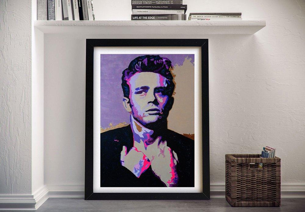 Framed James Dean Vintage Pop Art