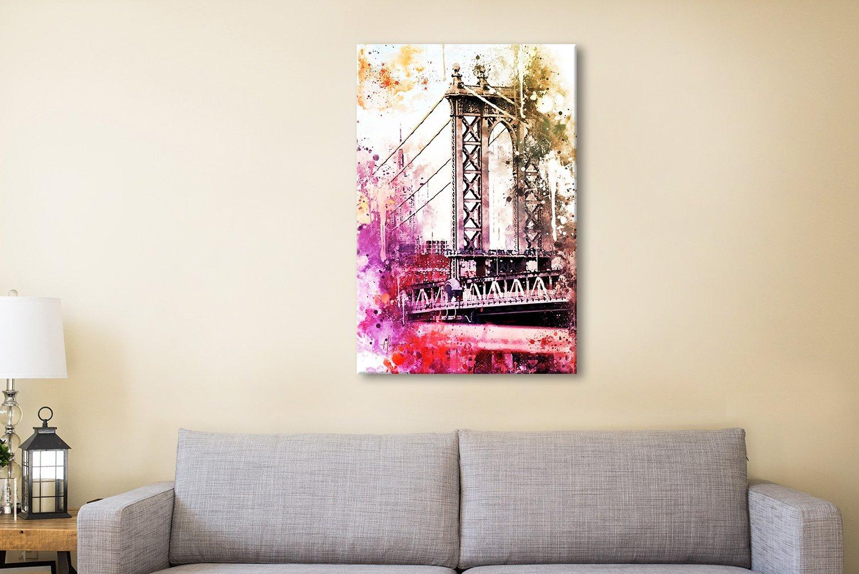 The Manhattan Bridge Premium Canvas Art AU