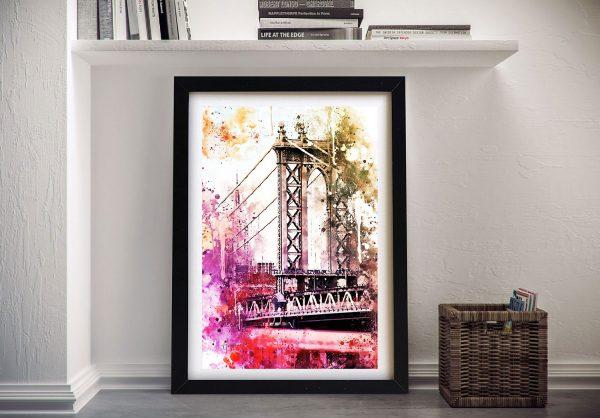 The Manhattan Bridge Framed Art Cheap Online