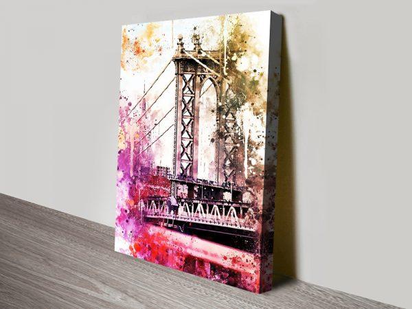 The Manhattan Bridge Stretched Canvas Print