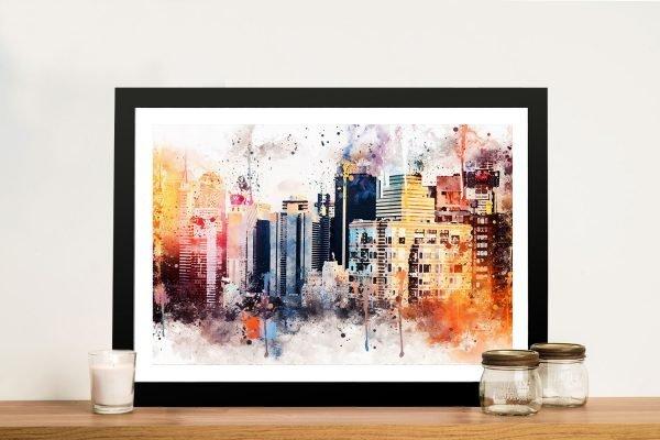 NYC Skyline Print Unique Home Decor Ideas AU