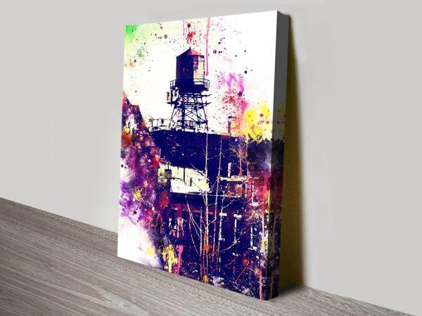 Watertank Watercolour Graphic Art Print Online