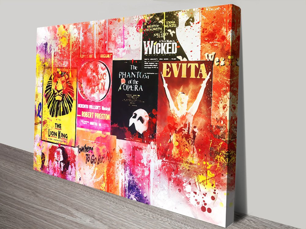 Broadway Shows Colourful Art Print Online