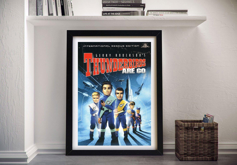 Framed Thunderbirds Wall Art Vintage Gifts AU