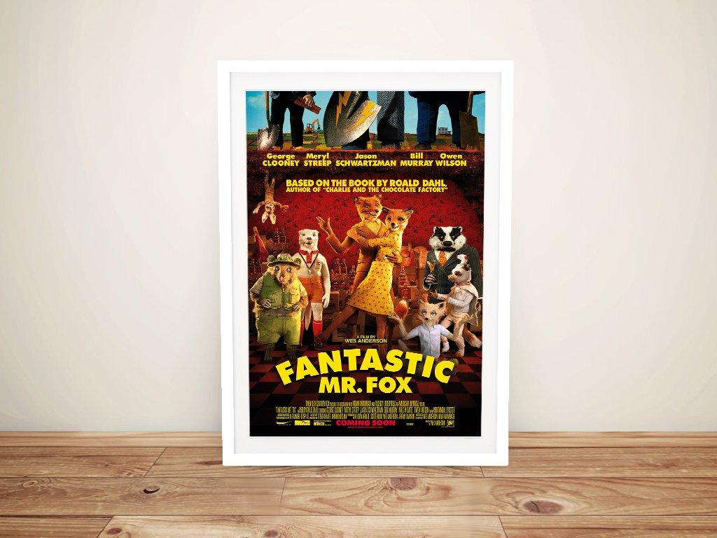 Framed Fantastic Mr Fox Movie Poster Art Print