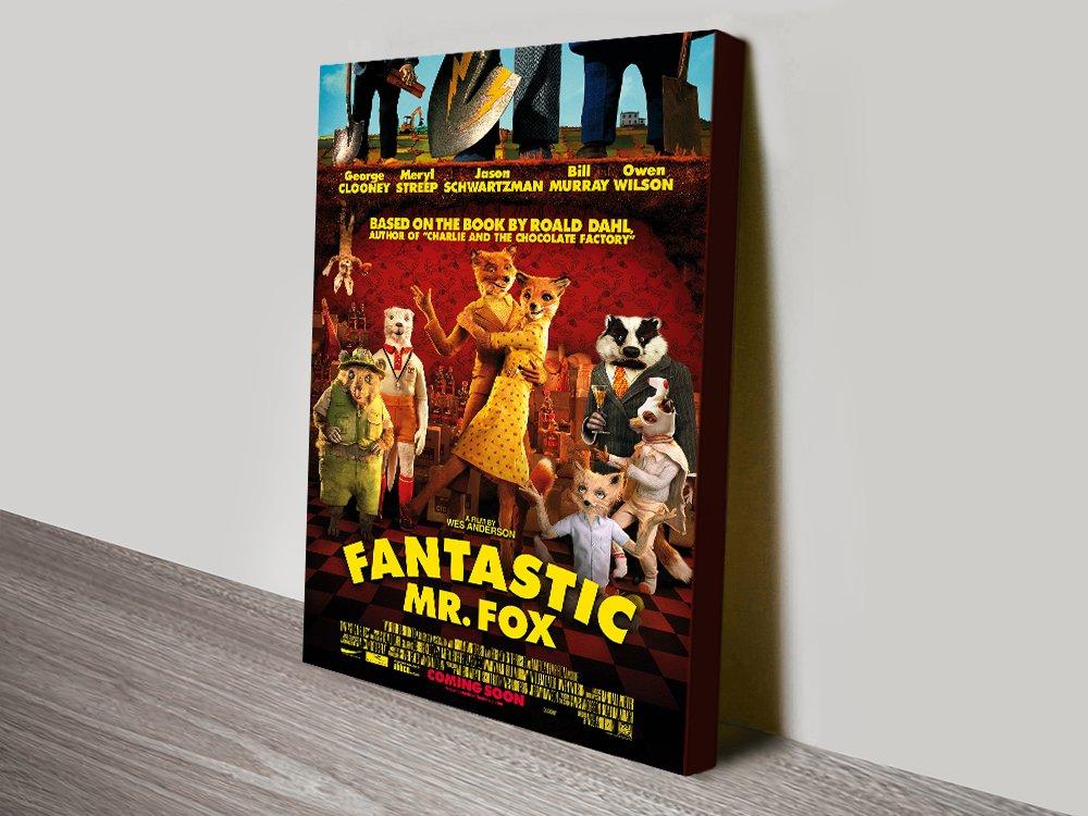 Fantastic Mr Fox Movie Poster Print on Canvas