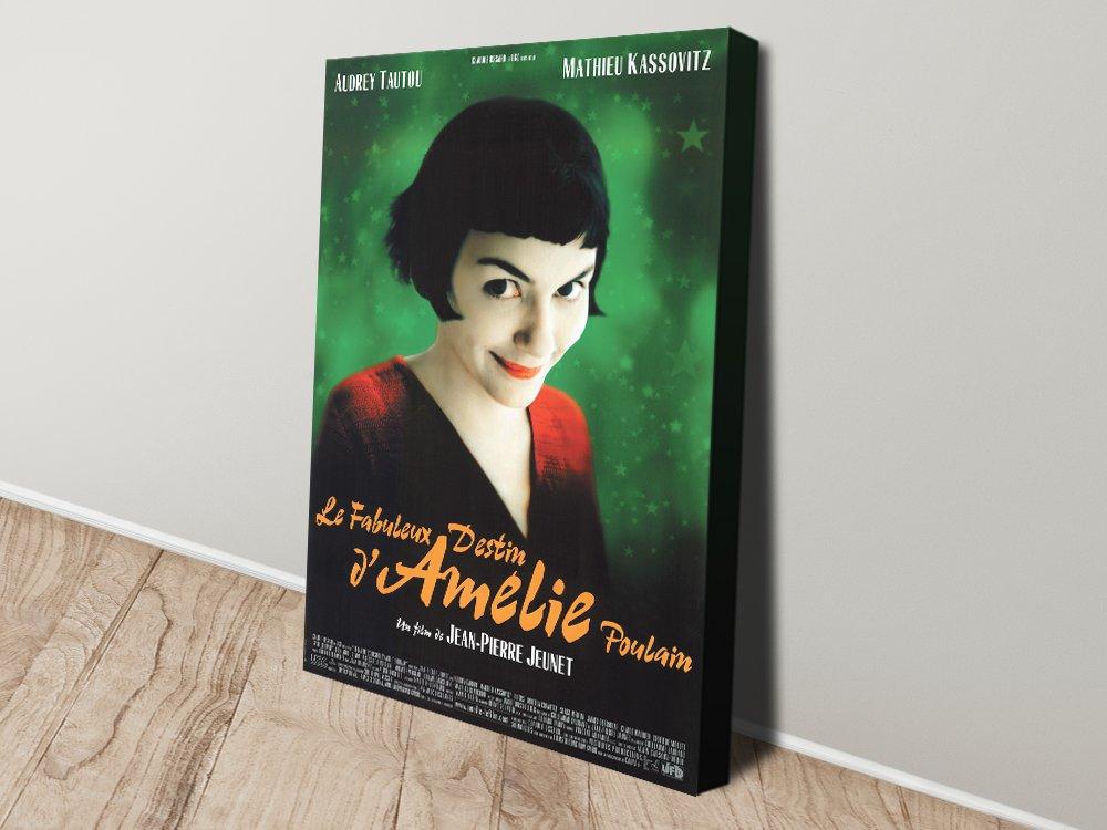 Amélie Stretched Canvas Original French Film Poster