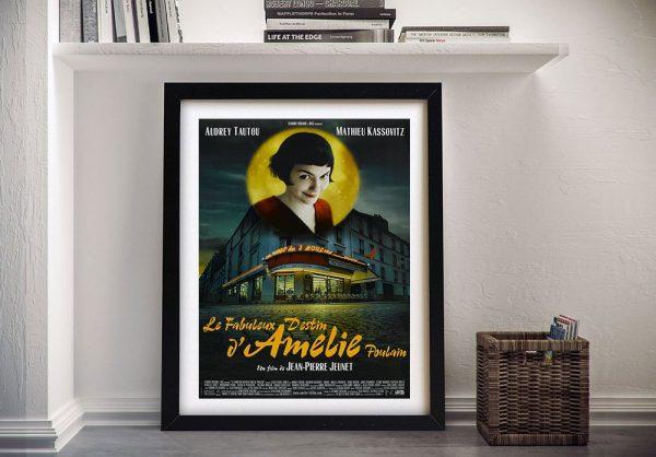 Amélie Framed Movie Poster Canvas Print