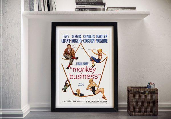 Buy a Framed Vintage Monkey Business Poster