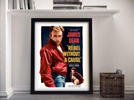 Framed James Dean Vintage Film Poster