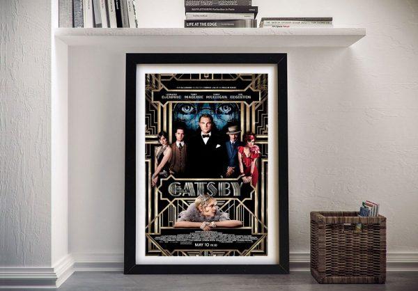 Framed Great Gatsby Movie Poster Print AU