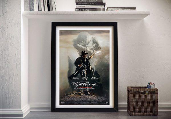 Framed Ready to Hang Wyatt Earp Poster for Sale