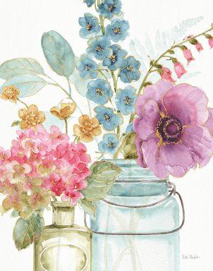 Rainbow Seeds Flowers Canvas Wall Painting Prints Australia