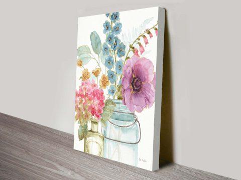 Rainbow Seeds Flowers Wall Art Print