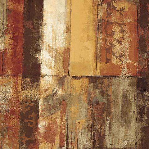 Spice Graffiti II Abstract Art Silvia Vassileva Canvas Print