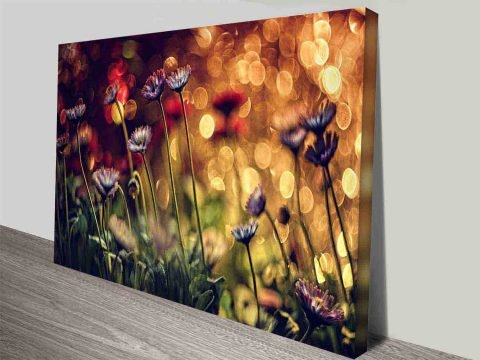 magical flowers floral photo art for your wall