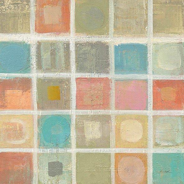 Sea Glass Mosaic Tile I Canvas Print