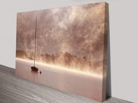 Mist over the Lake Canvas Wall Pictures
