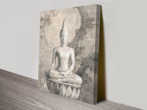 Buddha Painting Print by Danhuhi Nai