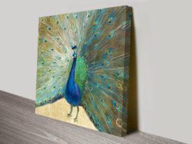 Danhuhi Nai Boho Blue Peacock Wall Art Print