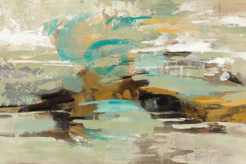 Hidden Lagoon Abstract Framed Artwork