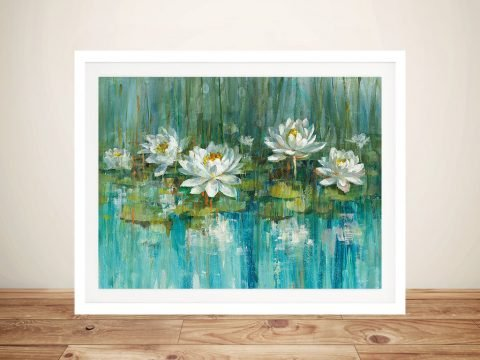 Water Lily Pond Framed Wall Art Poster Print