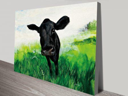 Farm Team Cow II Painting Print