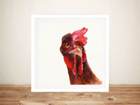 Holly The Chicken Painting Print