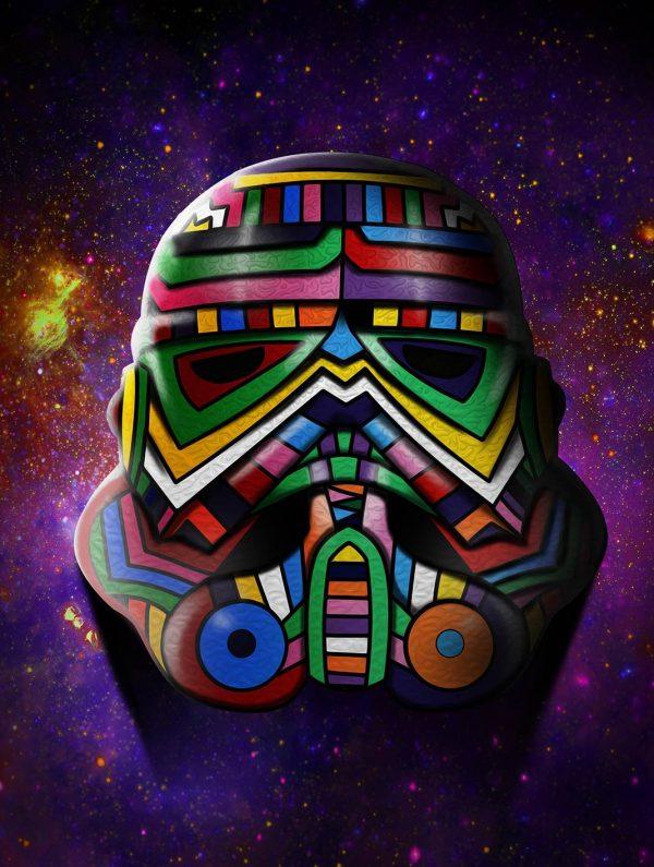 Cosmos Trooper Stormtrooper Star Wars Canvas Wall Art