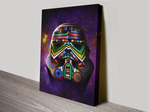 Cosmos Trooper Stormtrooper Star Wars Canvas Print
