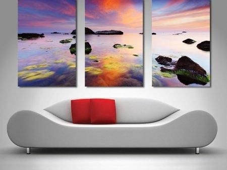 perfect sunrise 3 panel wall art