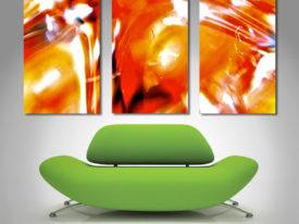 abstract 3 panel split canvas