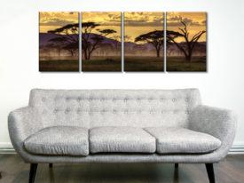 Good Evening Tanzania Four Panel Prints on Canvas