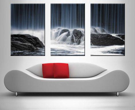 waterfall crashing onto rocks custom print online