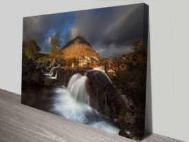 mountain creek custom photo to canvas print