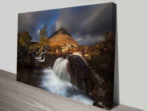 mountain creek custom photo to canvas print