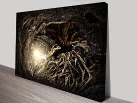 Tree Roots Decorative Canvas Wall Art Australia