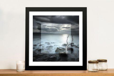 Misty Shores Beach Bay Framed Wall Art