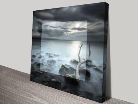 Misty Shores Beach Bay Photo Canvas Wall Art Print Au
