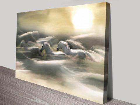dream horses canvas print