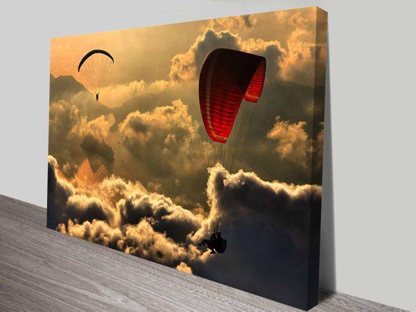 paragliding dream custom photo print on canvas