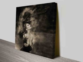 Classic Beauty Glamour Photo on Canvas