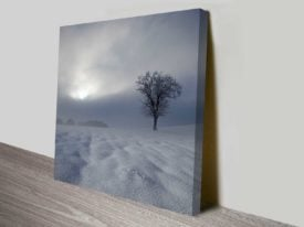 dark winters day wall art canvas print